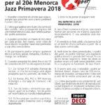 Concurs d'Imatge per al 20è Menorca Jazz Primavera 2018