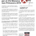 Concurs d'Imatge per al 21è Menorca Jazz Primavera 2019